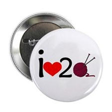 """i heart 2 knit 2.25"""" Button"""