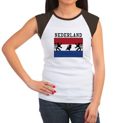 Nederland Flag Women's Cap Sleeve T-Shirt
