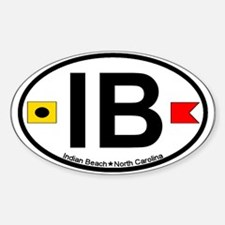 Indian Beach NC - Oval Design Decal