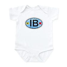 Indian Beach NC - Oval Design Infant Bodysuit