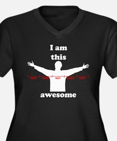 I Am This Awesome Women's Plus Size V-Neck Dark T-