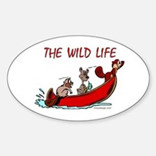 The Wild Life Oval Bumper Stickers