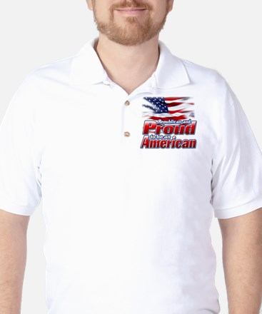 Republican and Proud to be an American Golf Shirt