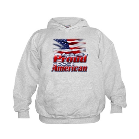 Republican and Proud to be an American Kids Hoodie