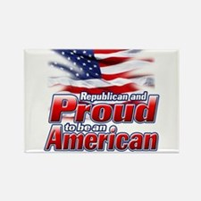 Republican and Proud to be an American Rectangle M