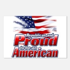 Republican and Proud to be an American Postcards (