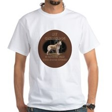 smart Canaan dog White T-shirt