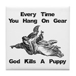 Don't Hangdog! Tile Coaster