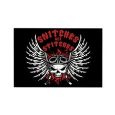 Snitches Get Stitches Rectangle Magnet