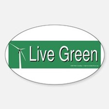 Live Green Windmill Decal