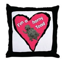 I'm a Horny Toad Throw Pillow