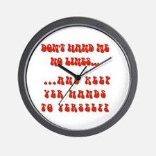 Hands To Yerself Wall Clock