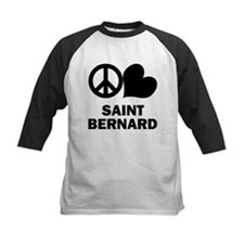 Peace Love Saint Bernard Tee
