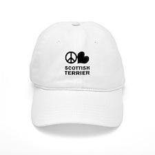 Peace Love Scottish Terrier Baseball Cap