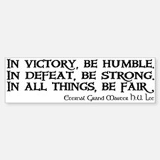 HU Lee quote Bumper Bumper Sticker