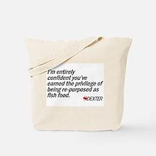 Re-purposed as Fish Food Tote Bag
