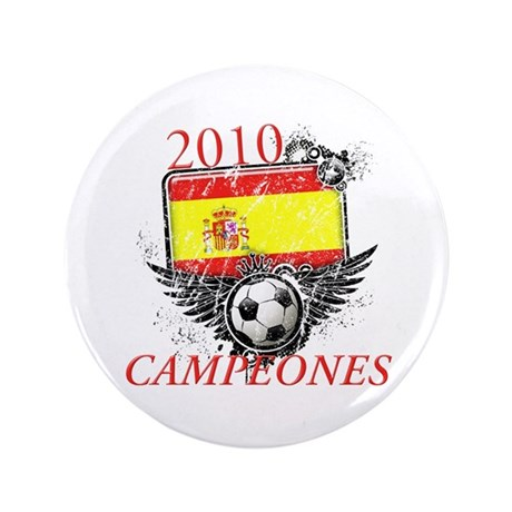"2010 Spain Campeones 3.5"" Button (100 pack)"