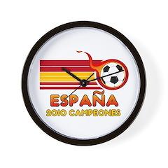 Espana 2010 Campeones Wall Clock