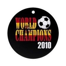 Spain 2010 World Cup Champions Ornament (Round)