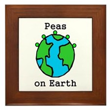 PEAS ON EARTH Framed Tile