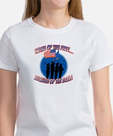 Home of the Free, Because of the Brave Tee