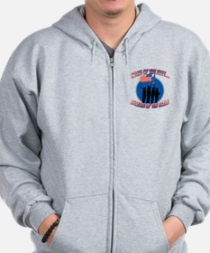 Home of the Free, Because of the Brave Zip Hoodie