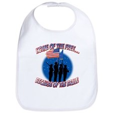 Home of the Free, Because of the Brave Bib