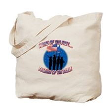 Home of the Free, Because of the Brave Tote Bag