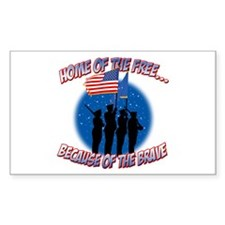 Home of the Free, Because of the Brave Decal