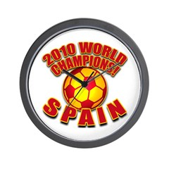 2010 World Champs Spain Soccer Wall Clock