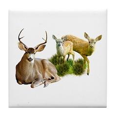 Deer Family Tile Coaster