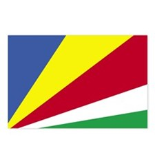 Flag of Seychelles 4 Postcards (Package of 8)