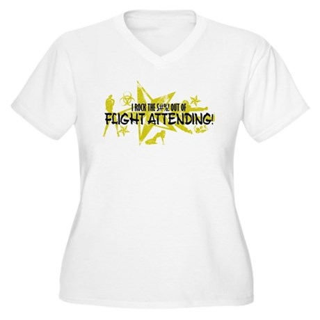 I ROCK THE S#%! - FLIGHT ATT Women's Plus Size V-N
