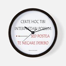 Top Secret Latin Wall Clock