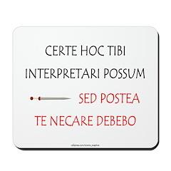 Top Secret Latin Mousepad