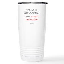 Top Secret Latin Travel Mug