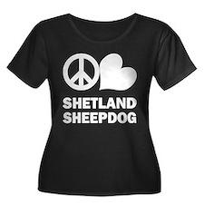 Peace Love Shetland Sheepdog T