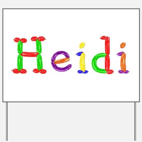 Heidi Balloons Yard Sign