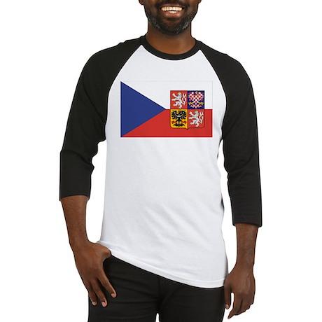 Czech Republic Flag & Seal Baseball Jersey