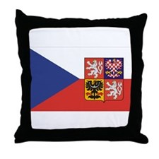 Czech Republic Flag & Seal Throw Pillow