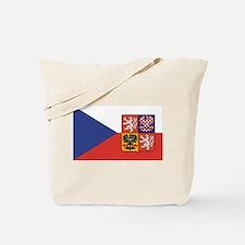 Czech Republic Flag & Seal Tote Bag
