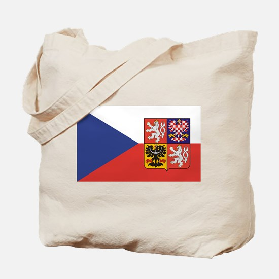 Czech Republic Flag & Seal Tote Bag