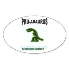 PKU-ASAURUS Oval Decal