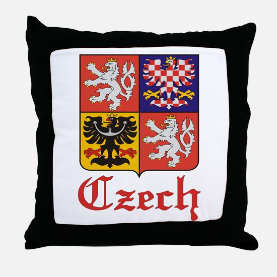 Czech Coat of Arms / Crest Throw Pillow