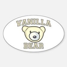 Vanilla Bear Sticker (Oval)