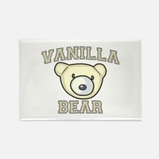 Vanilla Bear Rectangle Magnet