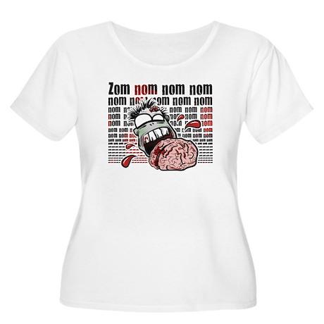 Zom Nom Nom Nom Women's Plus Size Scoop Neck T-Shi