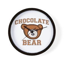 Chocolate Bear Wall Clock