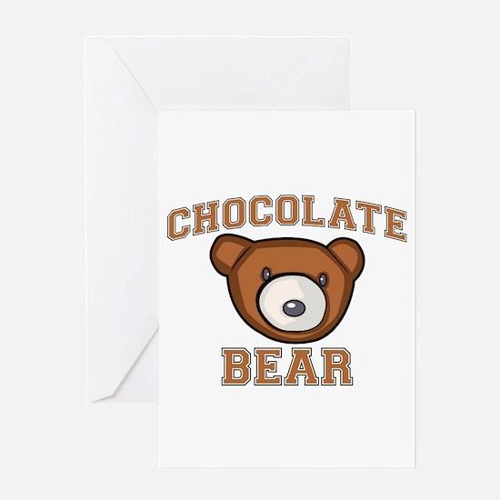 Chocolate Bear Greeting Card