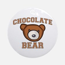 Chocolate Bear Round Ornament